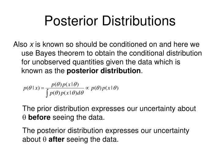 Posterior Distributions
