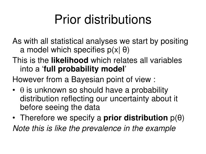 Prior distributions