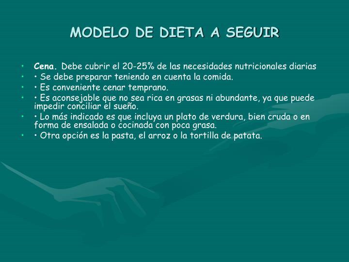 MODELO DE DIETA A SEGUIR