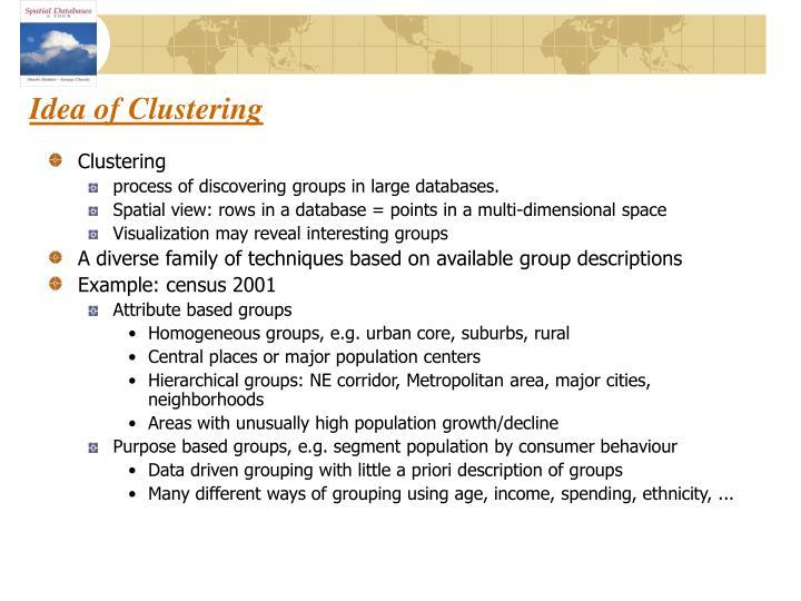 Idea of Clustering
