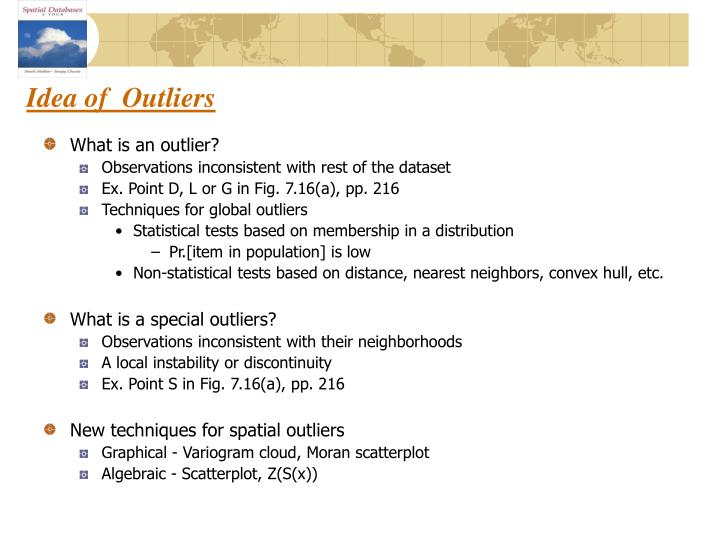 Idea of  Outliers
