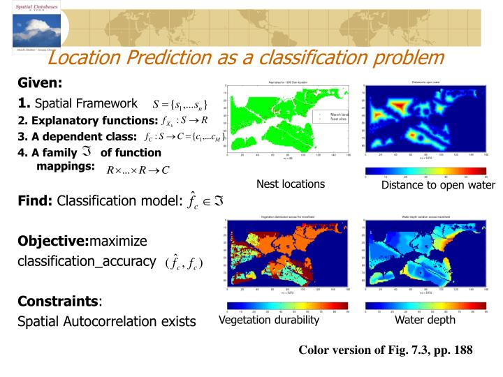 Location Prediction as a classification problem