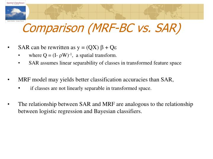 Comparison (MRF-BC vs. SAR)