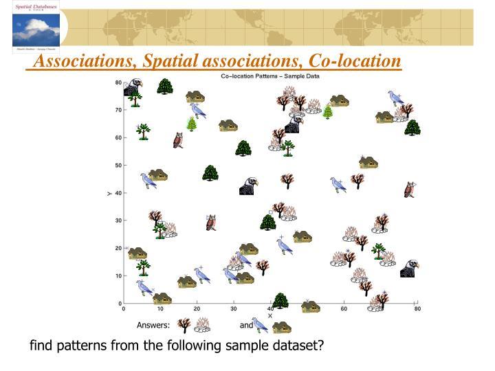 Associations, Spatial associations, Co-location