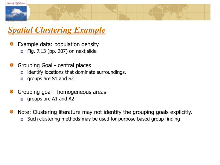 Spatial Clustering Example