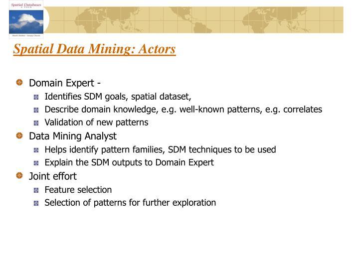 Spatial Data Mining: Actors