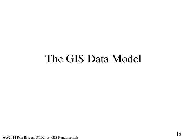 The GIS Data Model