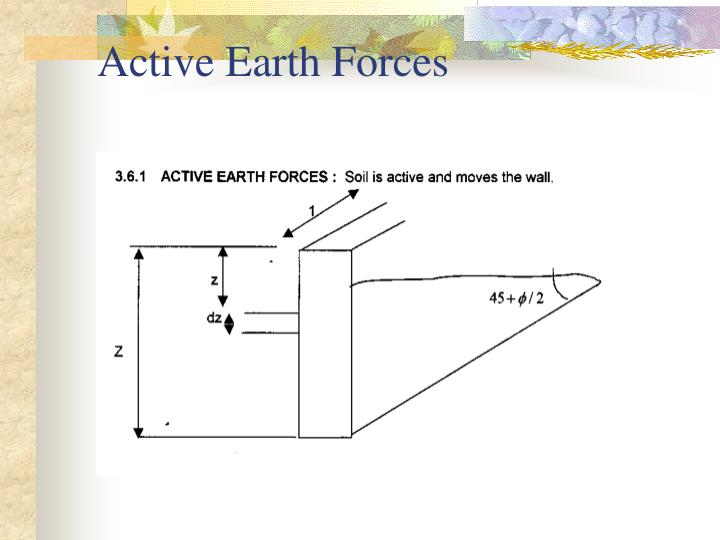 Active Earth Forces