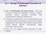 4 2 1 design of drainage channels or ditches