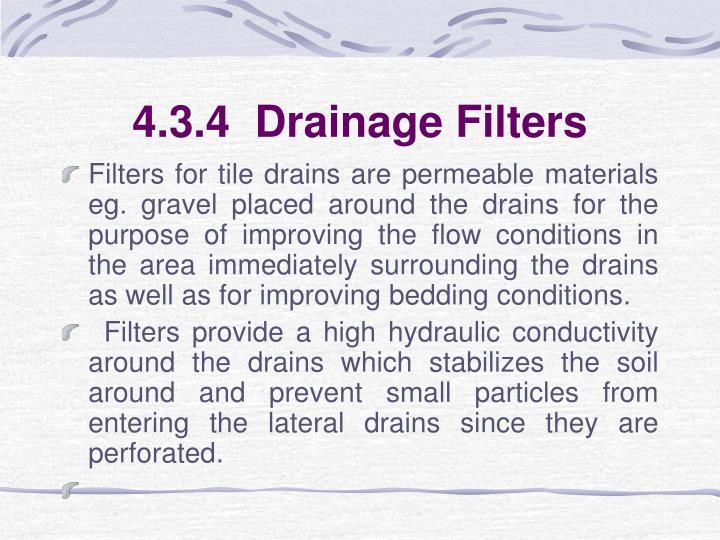 4.3.4  Drainage Filters