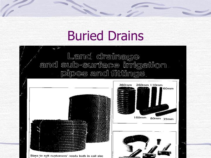 Buried Drains