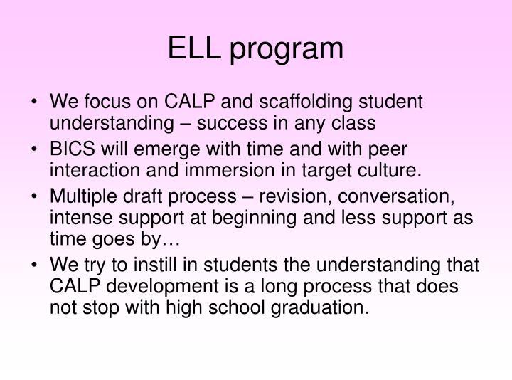 ELL program
