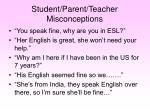 student parent teacher misconceptions