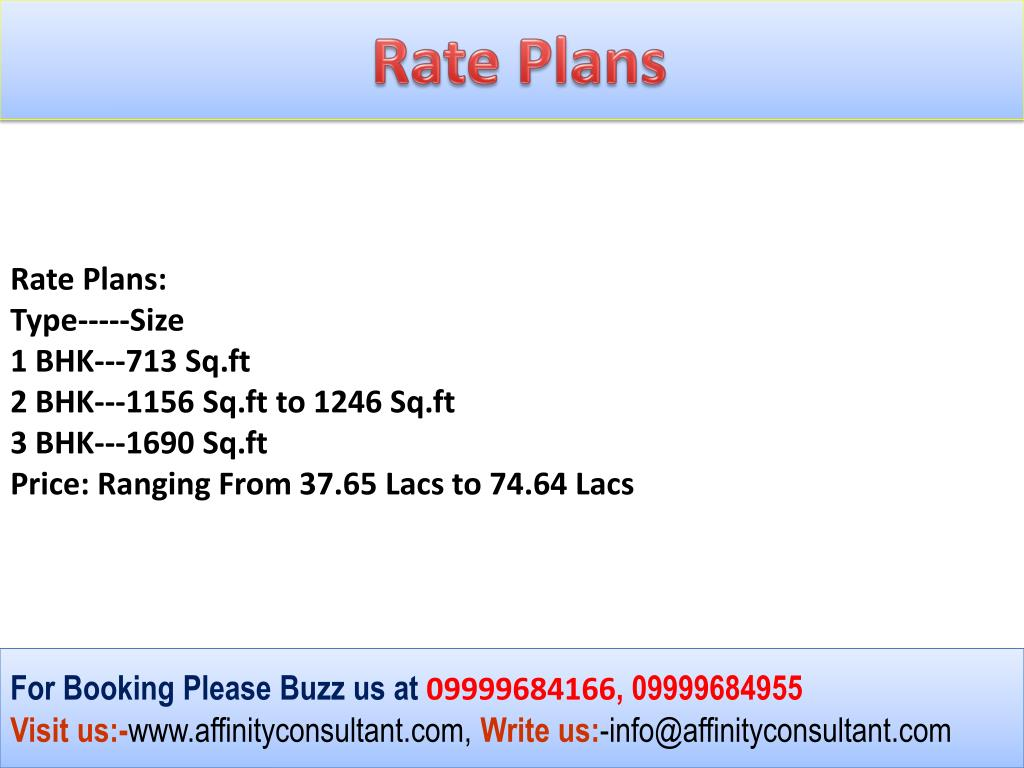 Rate Plans