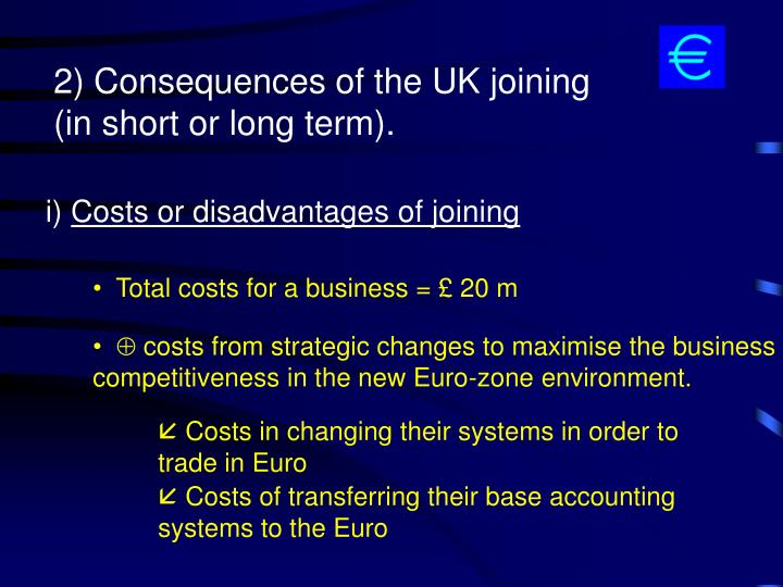 Total costs for a business = £ 20 m