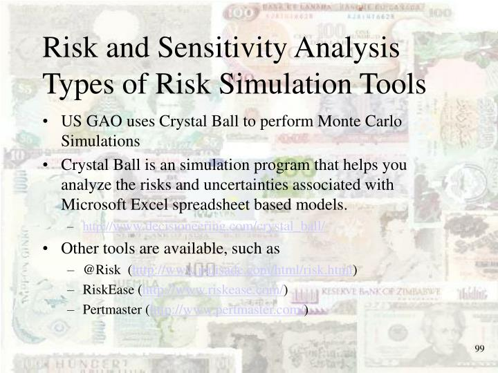 Risk and Sensitivity Analysis
