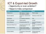 ict export led growth