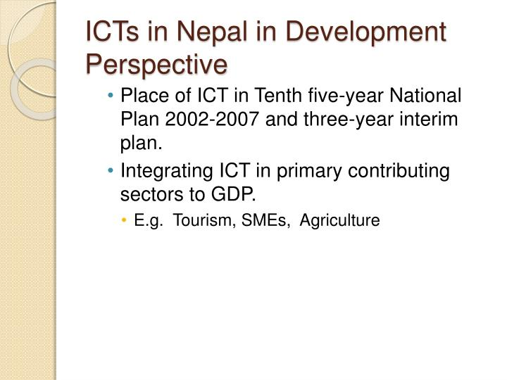 ICTs in Nepal in Development Perspective