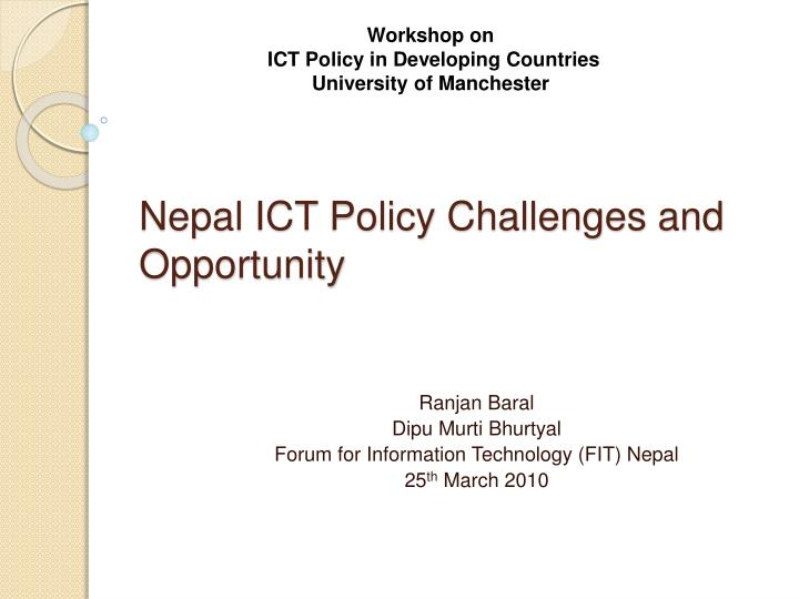 Nepal ict policy challenges and opportunity