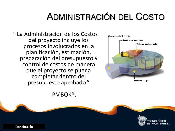 Administración del Costo