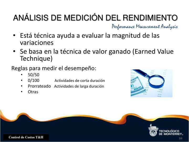ANÁLISIS DE MEDICIÓN DEL RENDIMIENTO