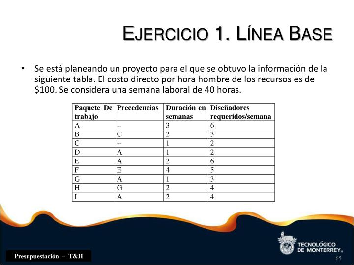 Ejercicio 1. Línea Base