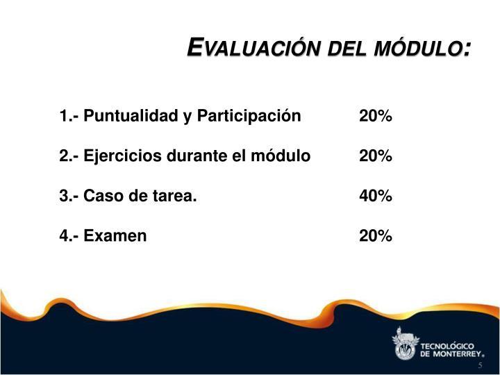Evaluación del módulo:
