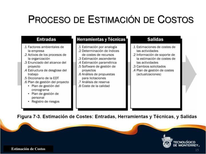 Proceso de Estimación de Costos