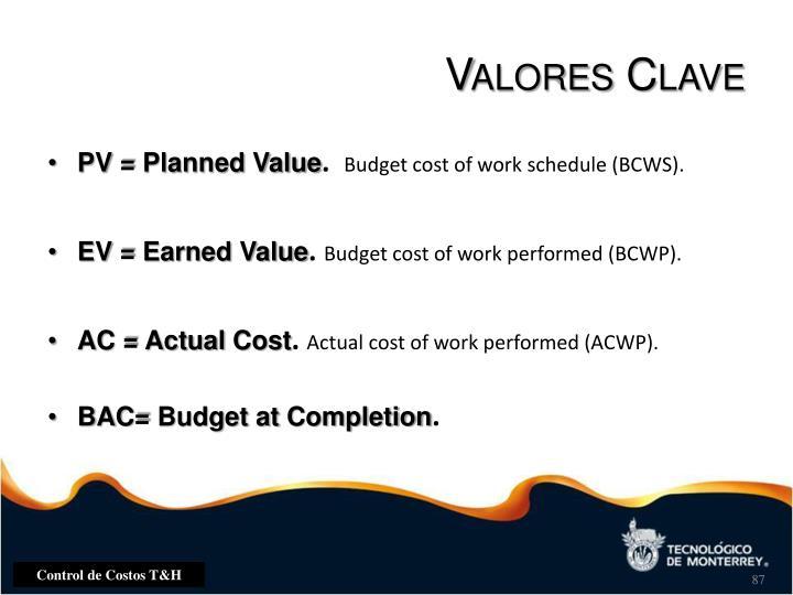 Valores Clave