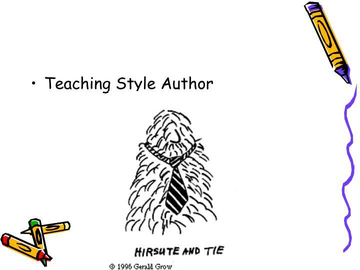 Teaching Style Author