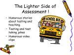 the lighter side of assessment1