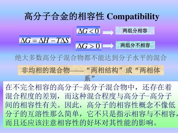 高分子合金的相容性