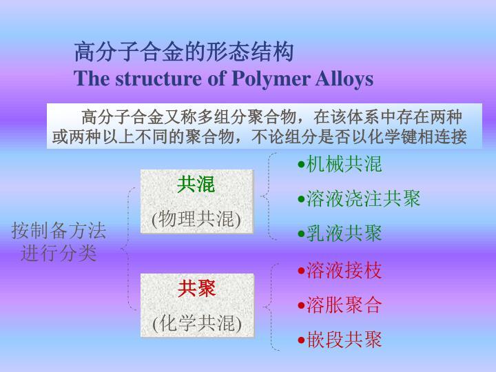 高分子合金的形态结构