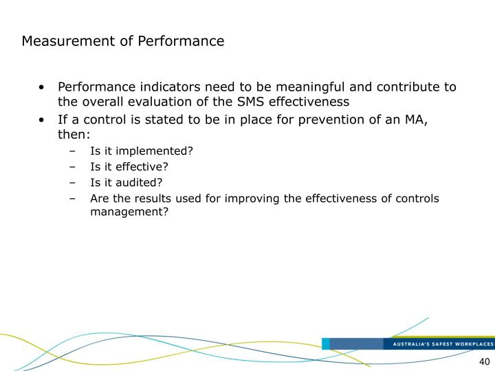 Measurement of Performance