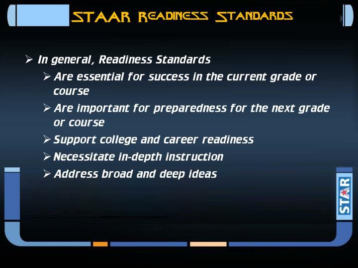 STAAR Readiness