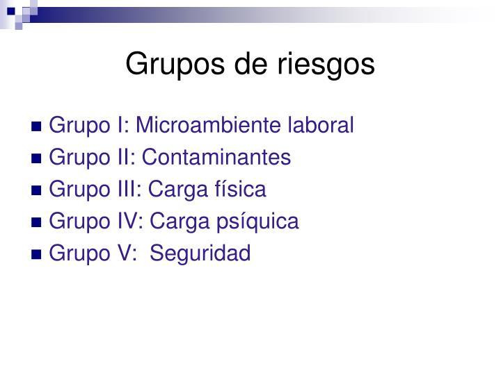 Grupos de riesgos
