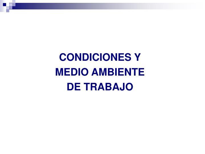 CONDICIONES Y
