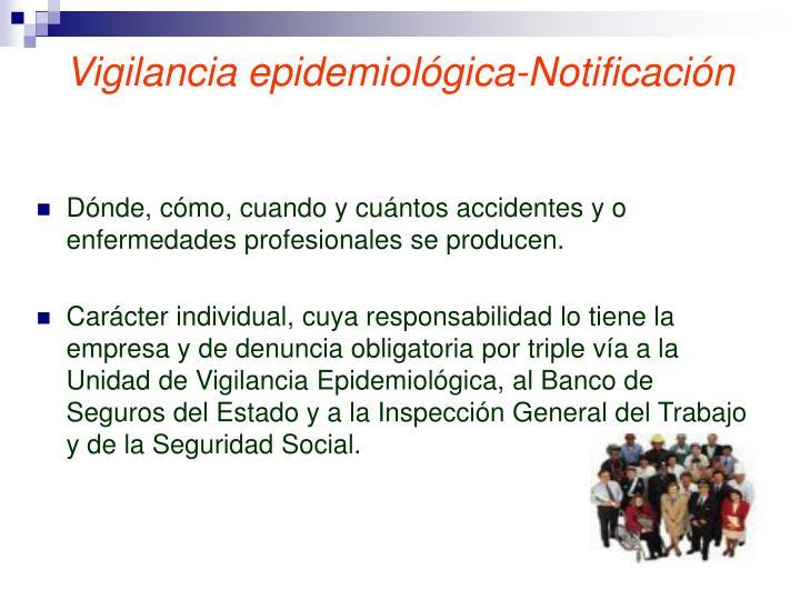 Vigilancia epidemiológica-Notificación