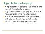 report definition language