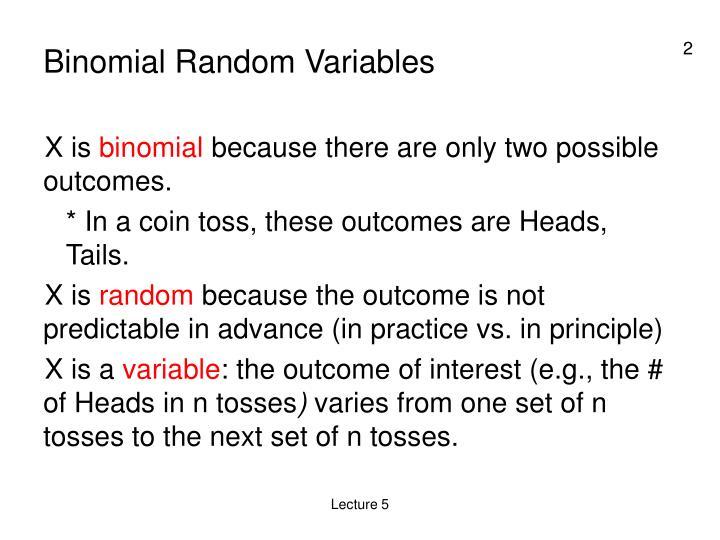 Binomial Random Variables