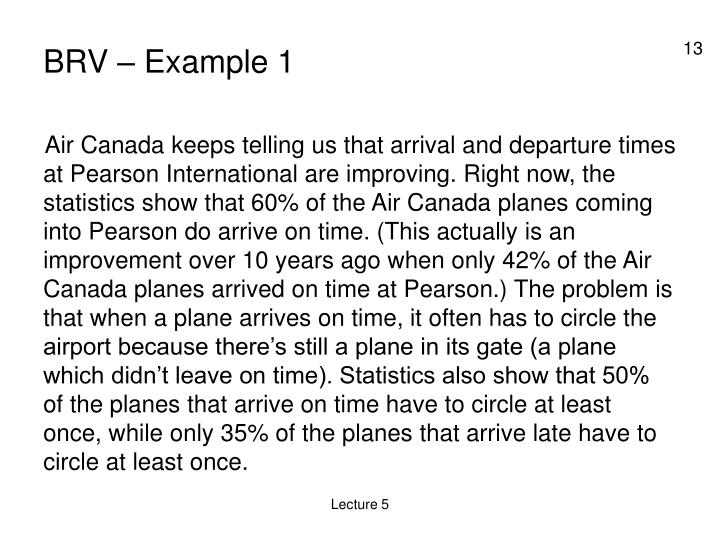 BRV – Example 1