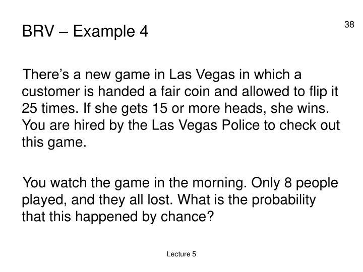 BRV – Example 4