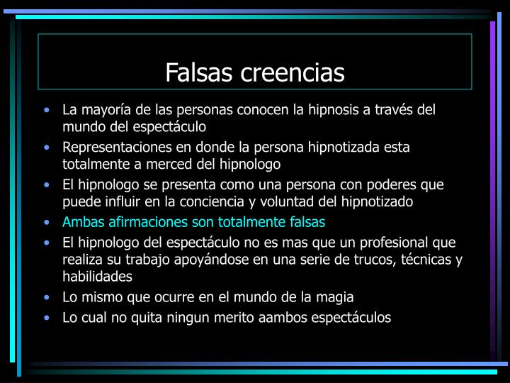Falsas creencias
