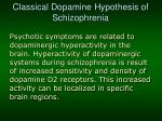 classical dopamine hypothesis of schizophrenia