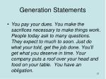 generation statements