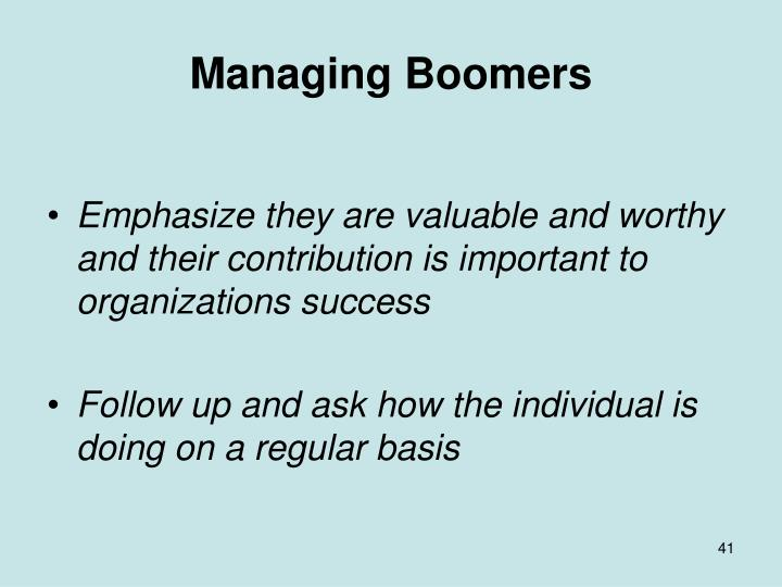 Managing Boomers