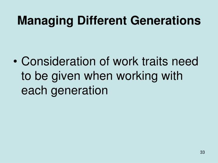 Managing Different Generations
