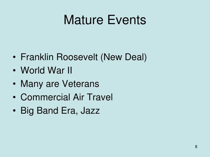 Mature Events