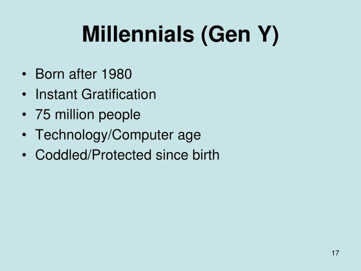Millennials (Gen Y)