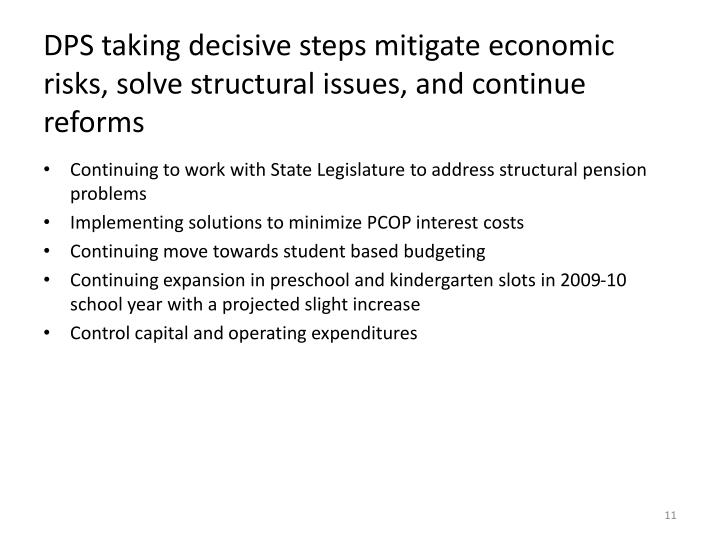 DPS taking decisive steps mitigate economic risks, solve structural issues, and continue reforms